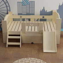 Children Beds Kids Furniture Home Solid Wood Bed With Ladder Drawers Slide Enfant Baby