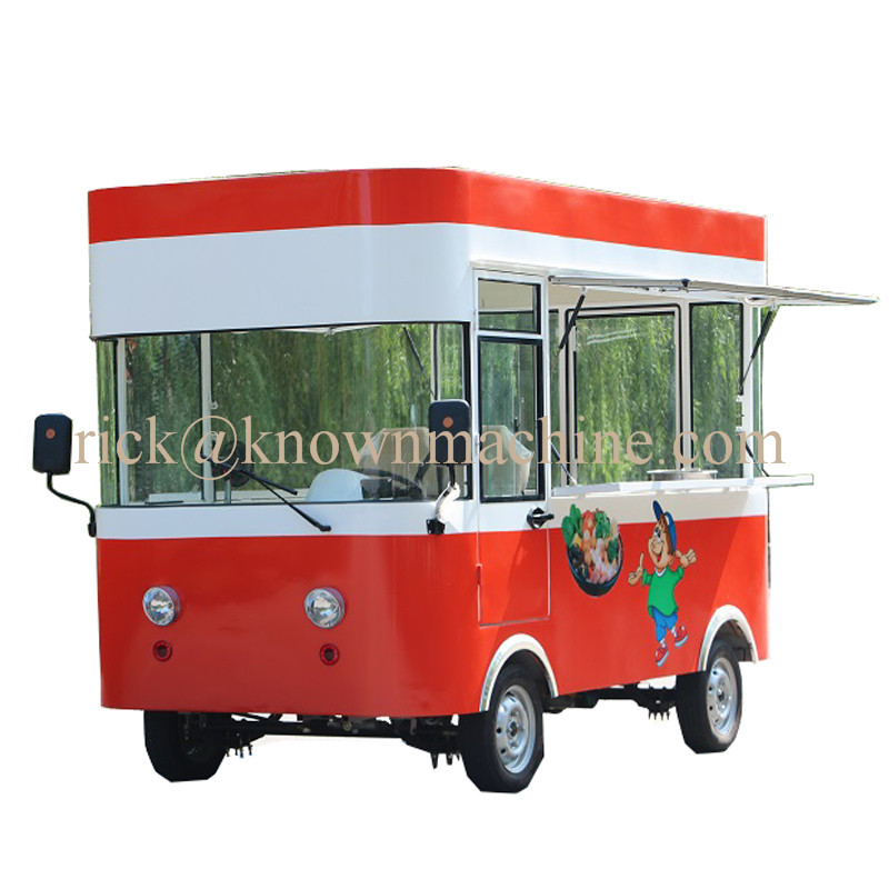 2019 Hot Sale Mobile Electric Snack Fast Food Cart/truck/trailer Outdoor Use With Drive Power ,tourist Car With Free Shipping