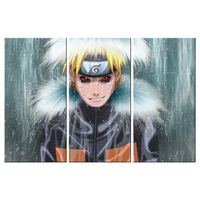 Modern Canvas Living Room Poster Frame Pictures 3 Panel Naruto Cartoon Character Painting Wall Art Modular