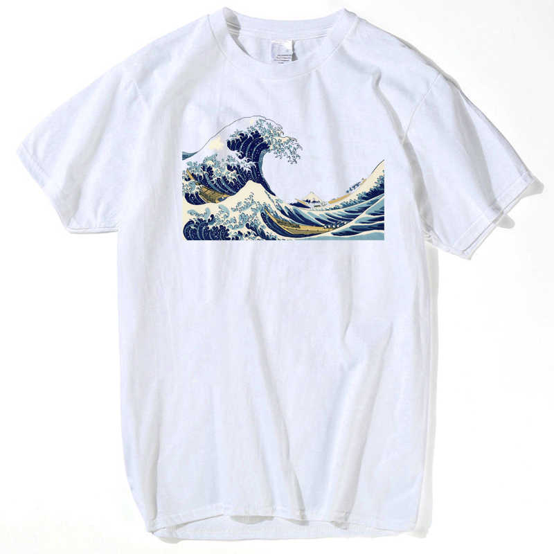 2018 New Designer The Great Wave of English Bulldog T-shirt For Man off white T Shirts Clothing men plus size s-xxxl hip hop tee