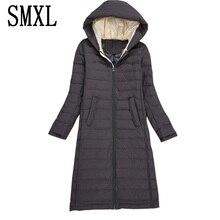 smxl ultra keep warm Down Jacket Fashion Autumn Winter Women Wadded Jackets Parkas Slim Fur Collar Hooded Coats Women Luxury