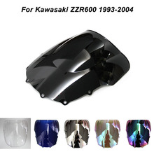 ABS Windscreen For Kawasaki Ninja ZX-6R ZZR600 1993-2004 Double Bubble Motorcycle Windshield Iridium Wind Deflectors
