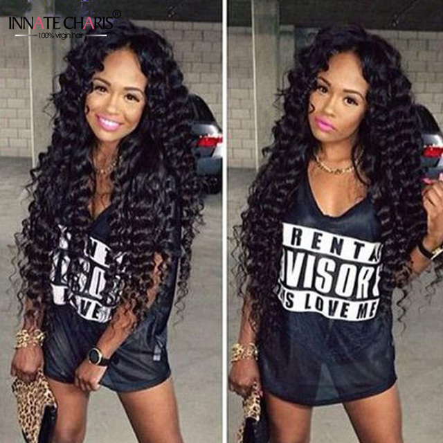 Virgin Eurasian Hair Deep Wave 4pcs Deep Curly Weave Human Hair