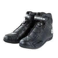 Urban Motorcycle Boots Botas Moto Motociclista Stivali Motocross Bottes MBT010A Men Women Road Auto Riding Racing Shoes