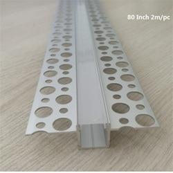 5-30 teile/los 80 zoll 2m embedded led aluminium profil, 10mm pcb streifen band licht flache rand unsichtbare linear kanal für wand/ceil