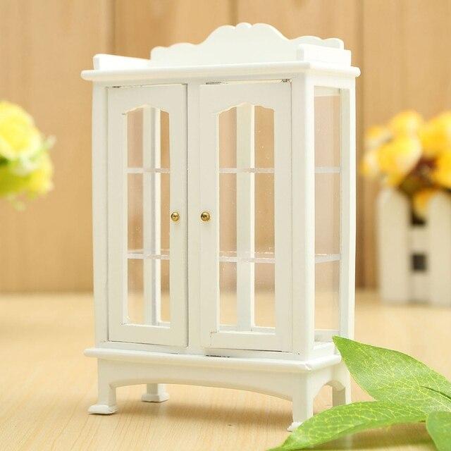 Diy décoration artisanat cadeau 1 12 miniature maison de poupée meubles moderne blanc en bois