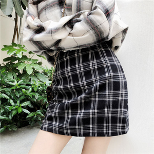Image 4 - TIGENA Vintage Plaid Skirts Women 2019 Summer Korean Fashion A line High Waist Skirt Female Sexy Mini Short Checked Skirt School