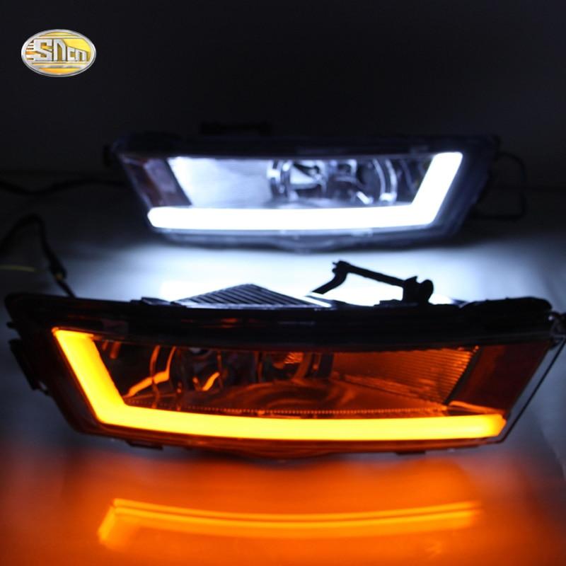 Здесь продается  SNCN Led daytime running lights for Skoda Rapid DRL Fog lamp shell Daylight with Yellow Turn signal lamp  Автомобили и Мотоциклы