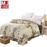 100 Cotton Duvet Cover Set Striped Flower Print Zip Quilt Cover 1 Pcs Super King Size