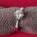 Причудливым Рисунком Кольцо G14K 585 Ювелирные Изделия 0.5Ct Муассанит Обручальное Кольцо Настройка Solid 14 К 585 Белое Золото Обручальное Кольцо для женщины