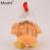 New Intelligent Eletrônico Chilcken Frango Brinquedos de Pelúcia para o Bebê Recém-nascido com Grandes Olhos Brinquedos de Pelúcia para Presentes do Aniversário Dos Miúdos