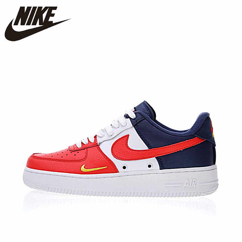 Оригинальный Nike Оригинальные кроссовки Air Force 1 низкая Мини Swoosh Для Мужчин's Скейтбординг обувь Спорт на открытом воздухе кроссовки 2018 Новое поступление 823511-601