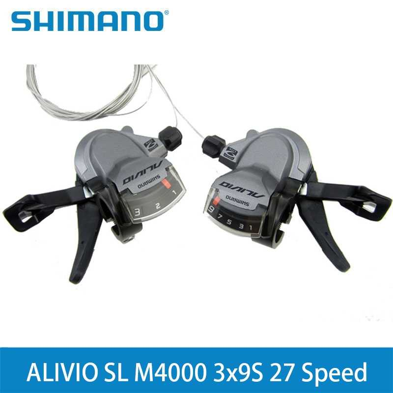 cff672757a9 SHIMANO ALIVIO SL M4000 3x9S 27 Speed Shifter Lever Trigger Left & Right  With Inner Cables