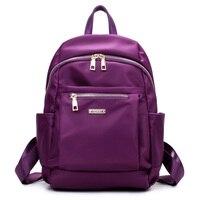 Fashion Small Waterproof Nylon Backpack Fashion Black Shoulder Bag Prepyp Style Backpack For Teenage Girl Solid