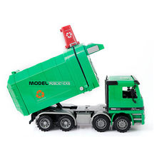 Children Garbage Truck Sanitation Trucks Toy Engineering Cleaning Car Model Simulation Inertia Toys for Children Kids Gift(China)