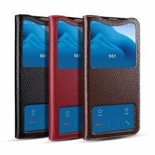 Mewah Asli Kulit Flip Case untuk Huawei Kehormatan 20 Pro Case dengan Jendela Penutup Belakang Ponsel Tas untuk Kehormatan 20 Pro Honor20