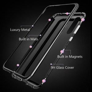 Image 3 - Magnetic Case for huawei p30 Pro tempered glass Cover on huwei p30 lite p 30 Pro light p30lite p30Pro 30lite Back Cover coque