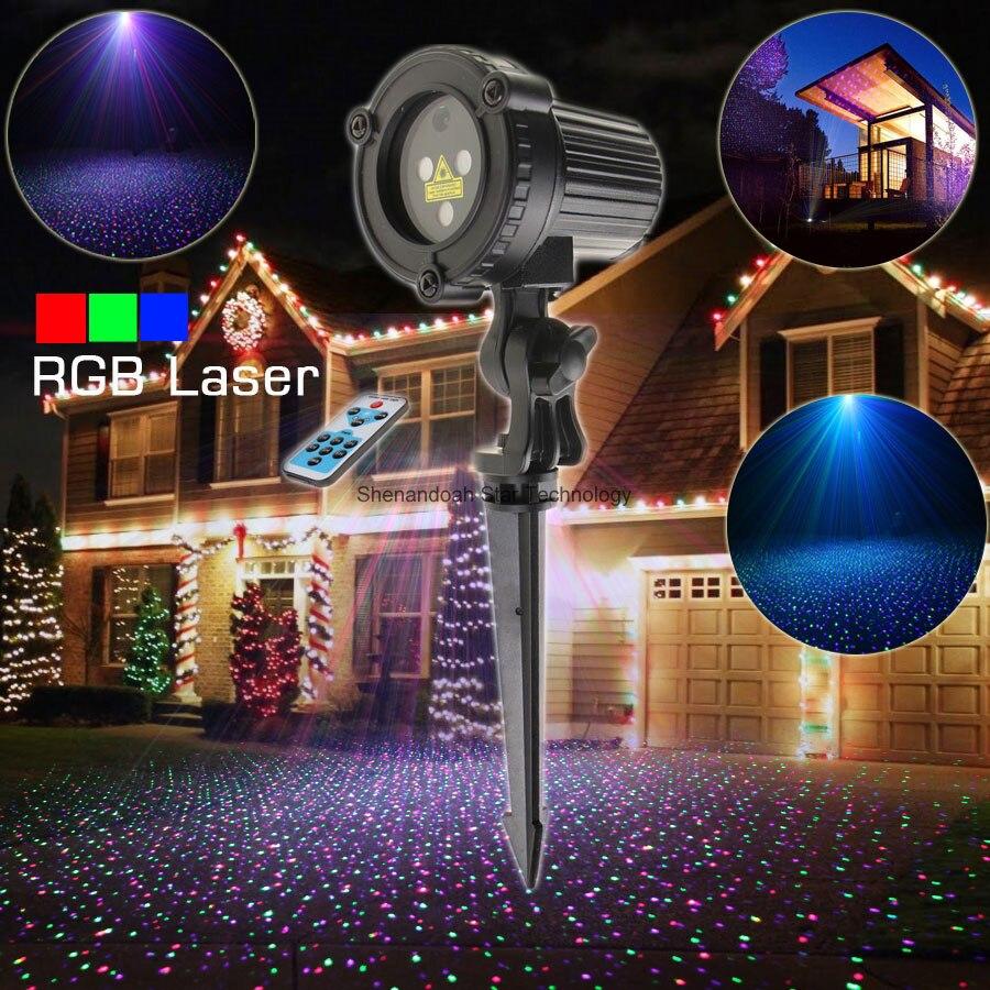 Лазерный проектор ESHINY WF RGB, для улицы, со звездами, пейзаж, снег, Рождество, сад, вечерние, дом, стена, дерево, диджейский эффект, светильник N8T120|effect light|dj effect lightingrgb laser | АлиЭкспресс