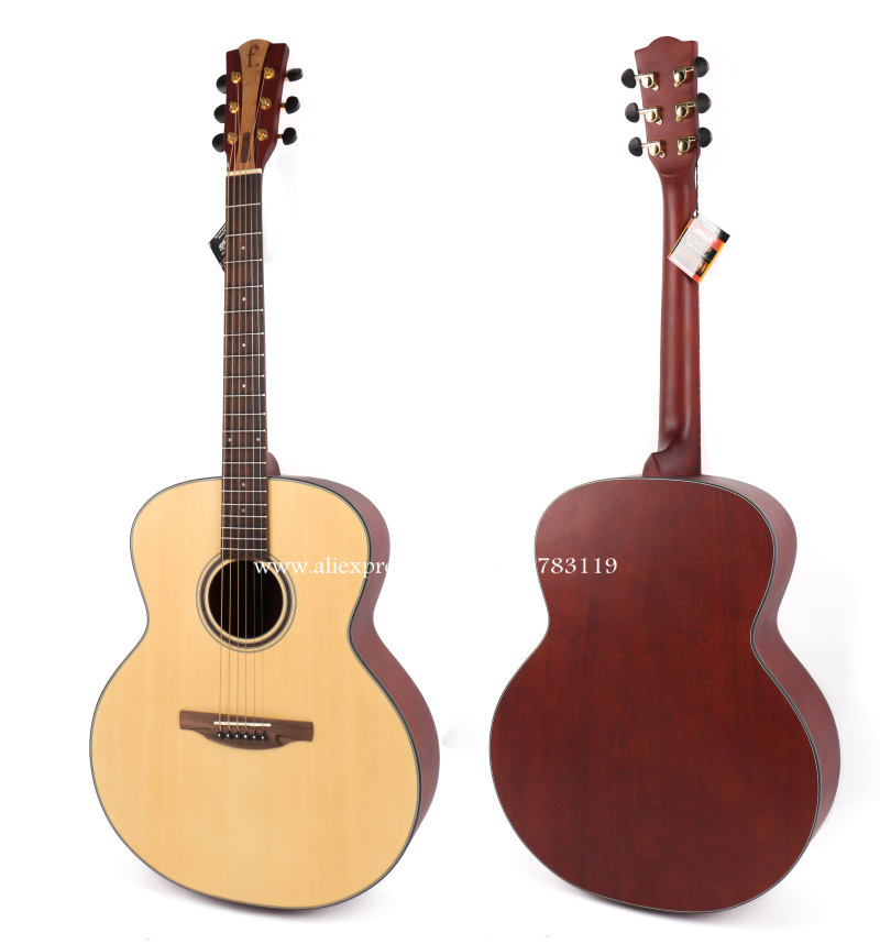 Free shipping 42 Jumbo Acoustic Guitar,Spruce Top/Mahogany Body guitarra eletrica With LCD Pickup, guitars china With Hard case