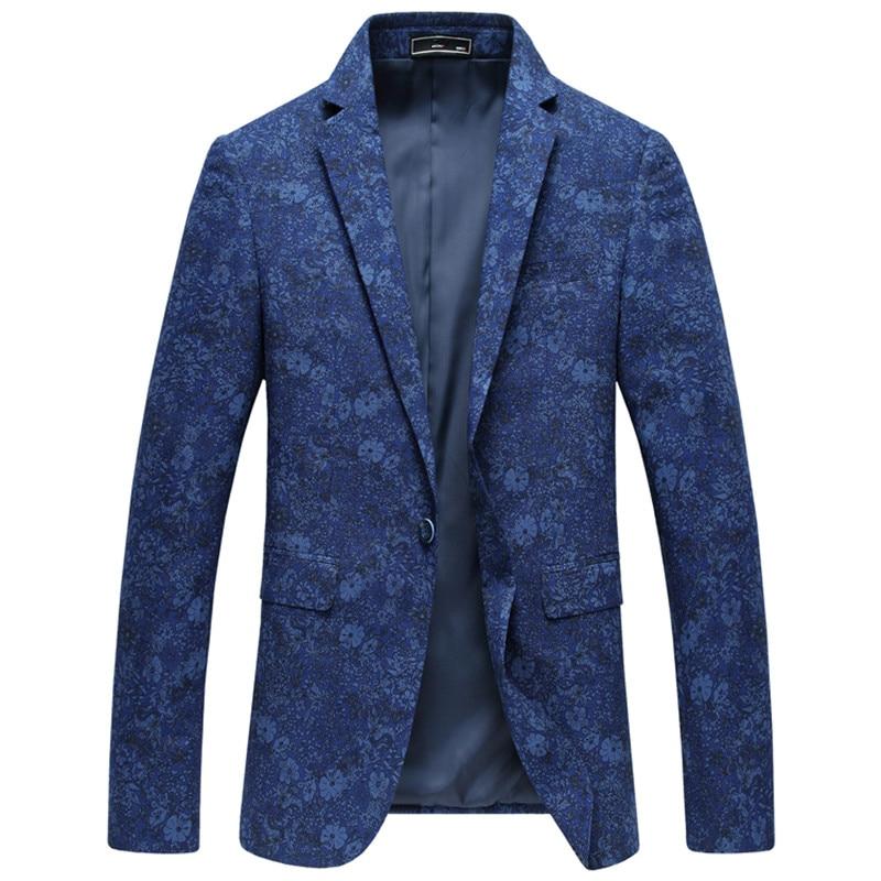 2017 Frühling Neuen Stil Männer Hohe Qualität Gestickte Wolle Blazer Mantel Der Männer Einreiher Jacken Blazer Männer Freies Verschiffen
