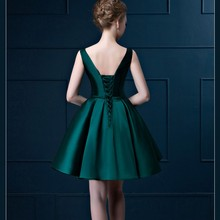 New Arrival Tank Elegant Prom dress Blackish Green Homecoming dresses Short Graduation Gown