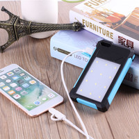 NEW 20000mAh Large Capacity Portable Solar Powered Power Bank Battery Charger With Dual USB Ports 12