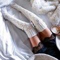 2017 Весна Осень Новая Мода Тонкий Юмор Слова Напечатаны Чулок Женщины Хлопок Повседневная Kinit Чулок Femme Толстые Теплые Чулок
