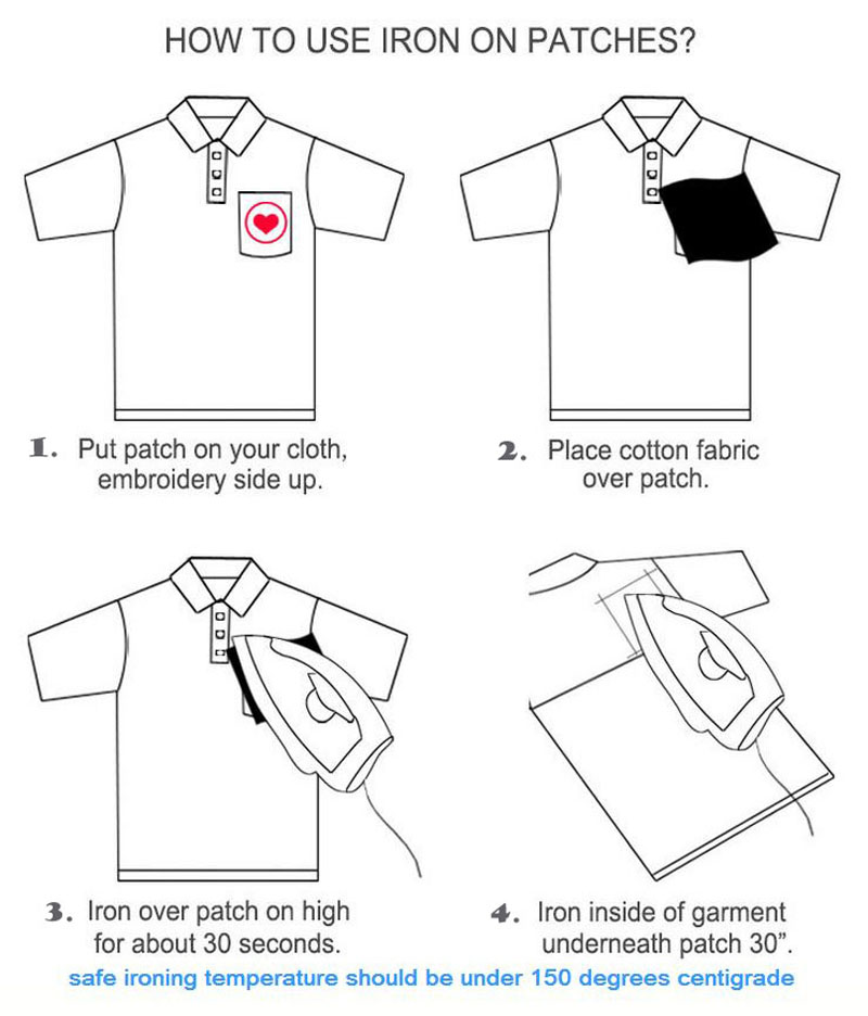 how to iron patches