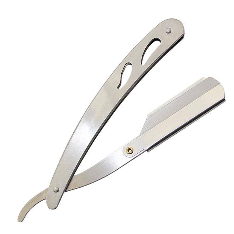 Men Straight Stainless Steel Razor Barber Folding Shaver Knife Hair Removal Tool