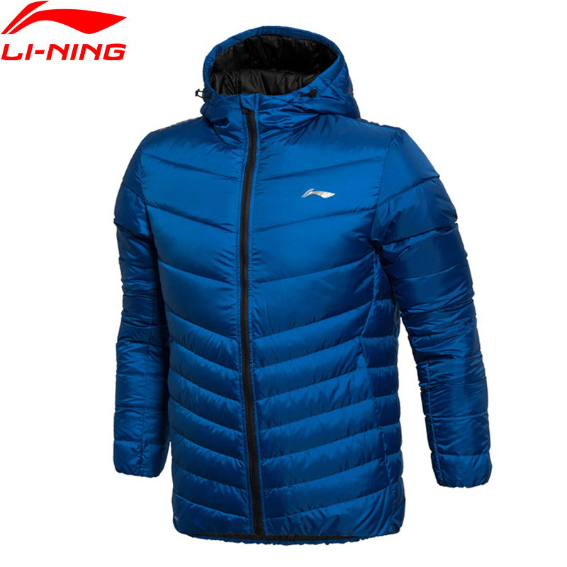Li-Ning Men Training Short Down Jacket ATProof Wind HONEYCOMB SHELL MICROFT Comfort LiNing Winter Jackets AYMK029 MWY259 original li ning men professional basketball shoes