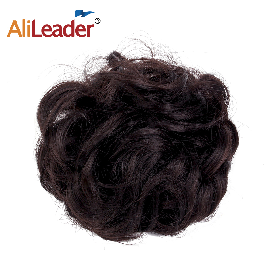 Hot Sale Alileader Hair Bun Extensions Wavy Curly Messy Hair