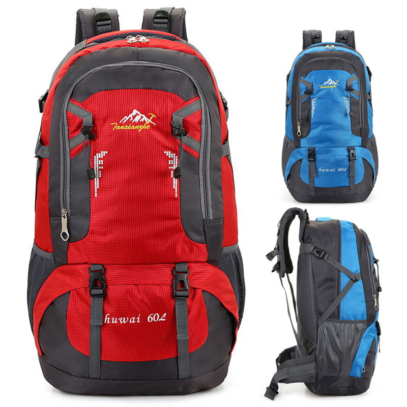 75L Large outdoor bag sports backpack mountaineering climbing hiking camping Wilderness adventure cycling Molle travel backpack outdoor sports bag mountaineering backpack climbing hiking cycling large capacity adventure backpack 45l waterproof camping bag