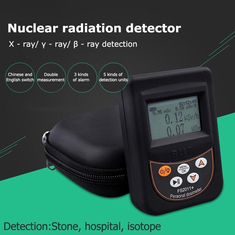 Radiazioni nucleari Dosimetro Contatore Geiger Beta Gamma X-ray Y-ray B-ray tubo Marmo Tester Nucleare rivelatore di radiazione di Allarme
