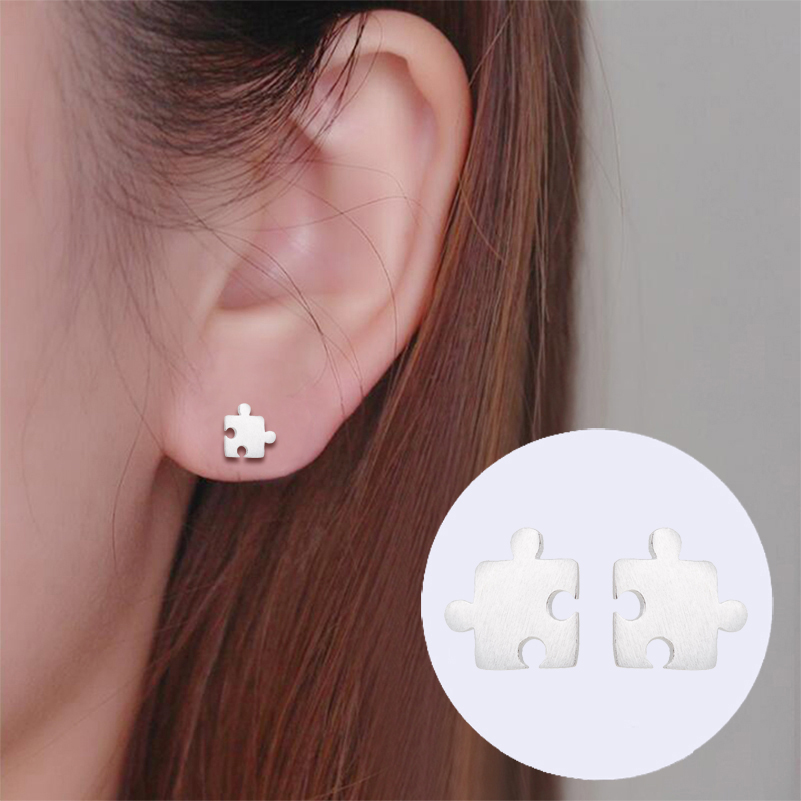 Oly2u New Fashion Tiny Puzzle Game Ear Earrings for Fashion Women Earring Kids Jewelry Gifts brincos brinco