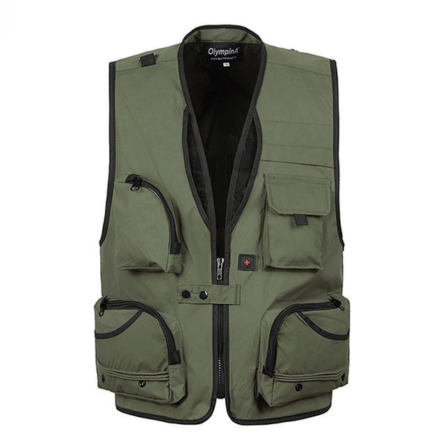 Cameraman Vest Summer Men Reporter Vest Multi-pockets Sleeveless Photographer Male Jackets Camouflage Casual Waistcoat Plus size