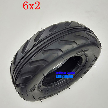6 inch 6X2 Tireand Inner Tube Set Fit for Electric Scooter Wheel Chair Truck F0 Pneumatic Wheel Trolley Cart Air Wheel Bike image