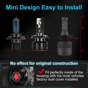 Image 3 - 2pcs H1 H4 LED H7 Canbus H11 H3 HB3 9005 HB4 9006 LED רכב פנס נורות H7 מיני 10000LM 6000K אוטומטי פנס 100W/55W 12V 24V