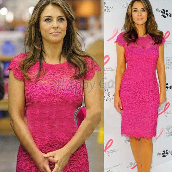 Hot Pink Color Women S Lace Crochet Short Sleeve Dress Tunic Bodycon Party Pencil M L Xl 31 In Dresses From Clothing On Aliexpress
