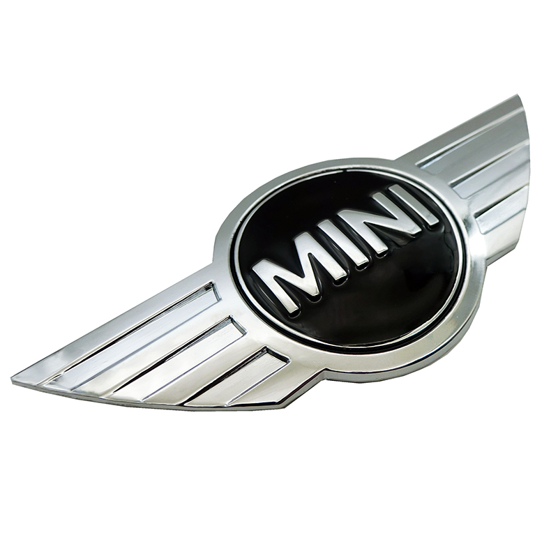 Image 2 - metal 3d MINI Car Badge Emblem logo Stickers For Mini Cooper CABRIO WORKS S Front head cover Rear head box Badge Decals Stickers-in Car Stickers from Automobiles & Motorcycles