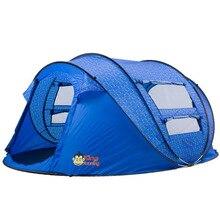 Tienda De Playa Automatic Quick Open Tent 5 Person Travel Folding Hiking Marquee Barraca Large Camping Tente Gazebo Tenda Blue