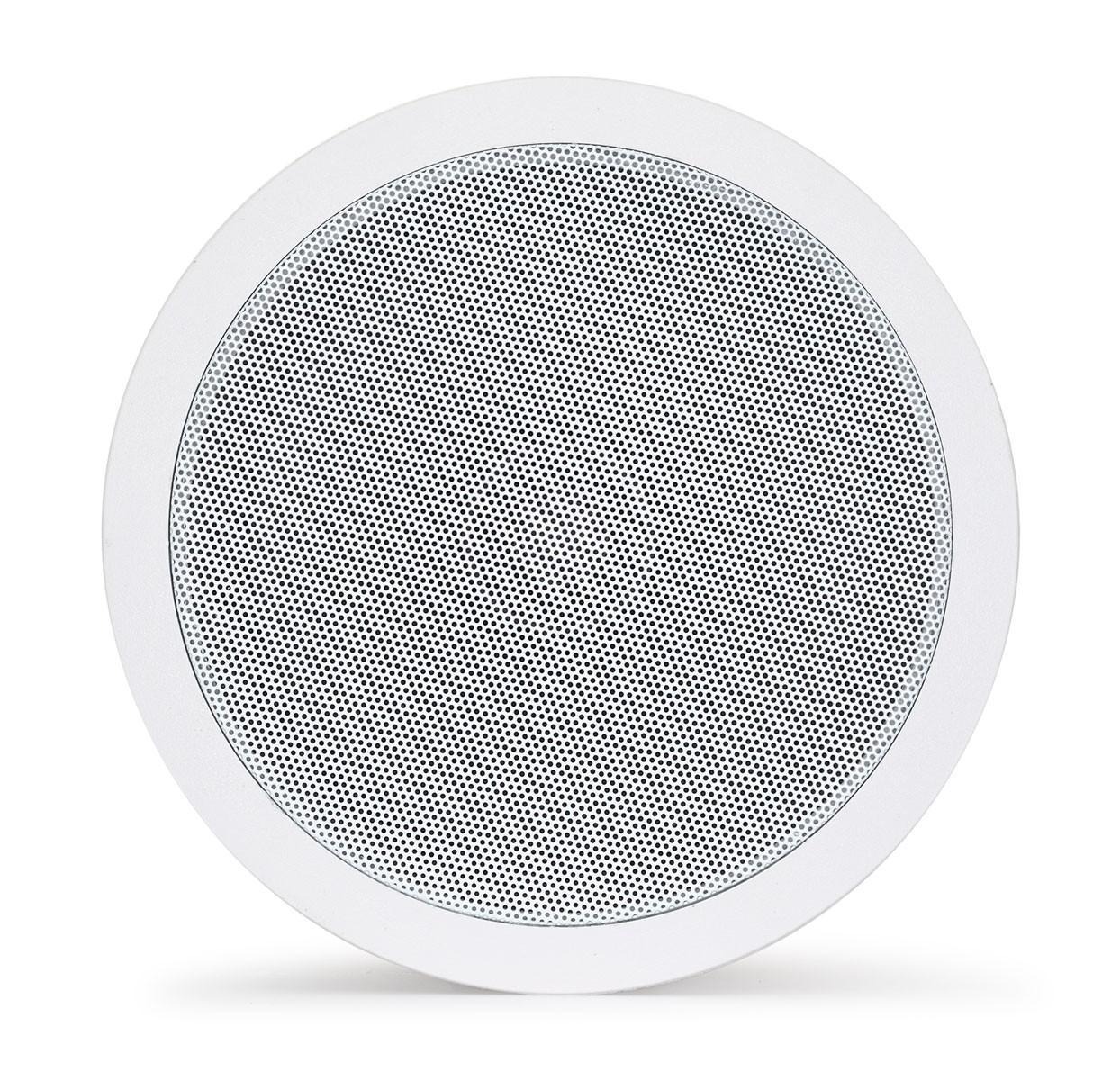Haut-parleur Fonestar encastré plafond rond avec écran spark, pour système PA, couleur blanche, facile à installer
