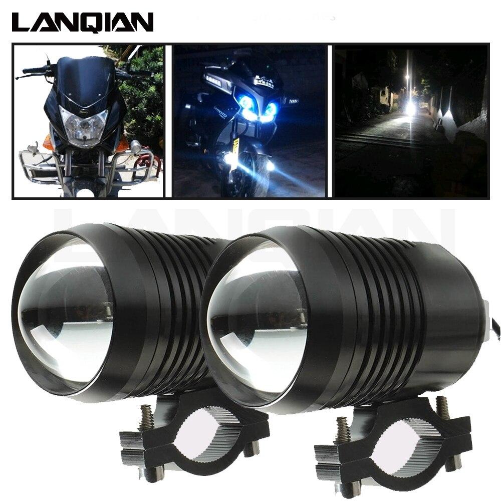 Motorcycle headlight Led light Auxiliary Lamp U2 Led Motorbike Spotlights Accessory Moto DRL Fog Spot Head Light 30W 12V 1200LM
