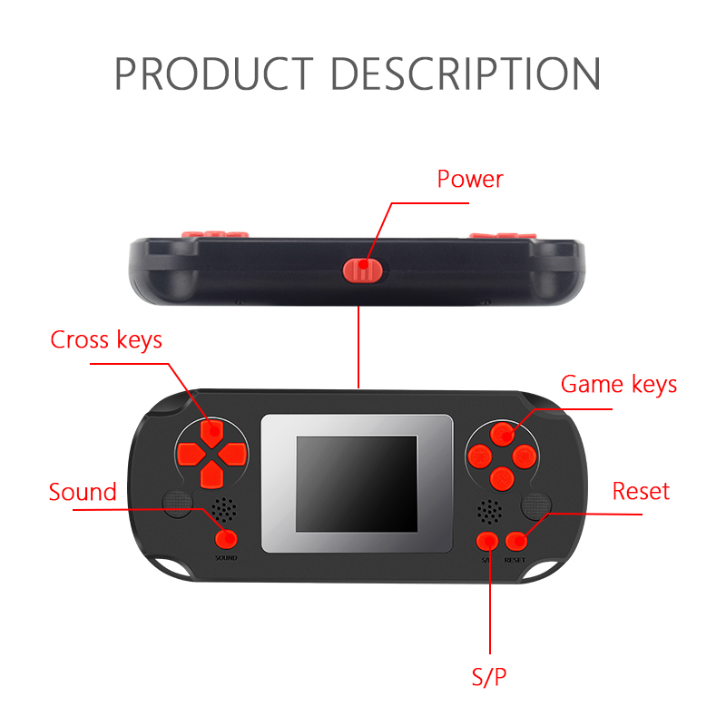 Image 3 - HOMEREALLY 8 BIT Classic Handheld Game Console Portable Retro Game Pocket Player Toys Built In 268 Classic Games-in Handheld Game Players from Consumer Electronics