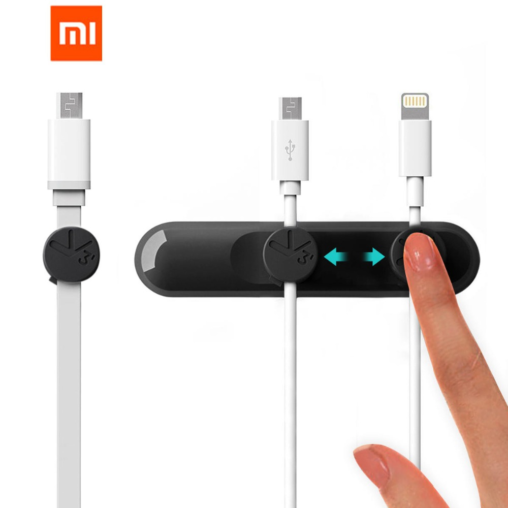 Xiaomi Mijia Bcase TUP Magnetic Desktop Cable Clips Cord Management Tiny 3 Size In 1 Wire Cable Organizer For Xiaomi Smart Home