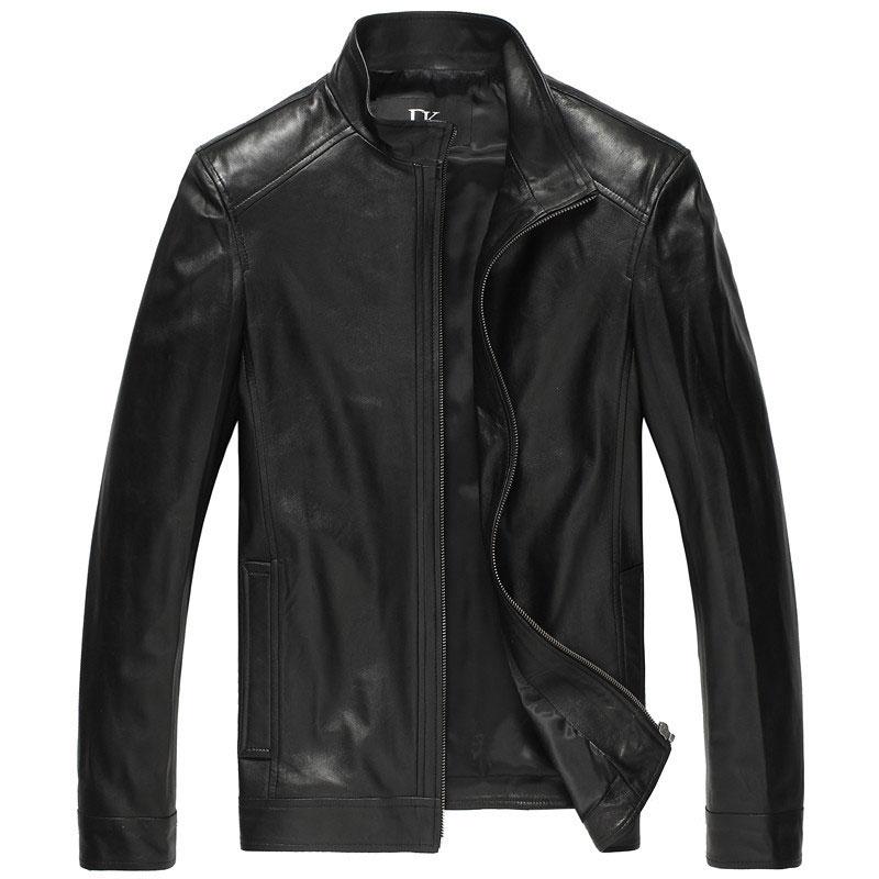 Luxury Man Genuine sheepskin leather jacket Brand Dusen Klein men slim Designer spring leather coats Black/Brown 14B0109