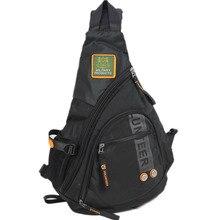 Yüksek kaliteli su geçirmez Oxford Sling sırt çantası sırt çantası sırt çantası okul askeri seyahat erkekler omuz çapraz vücut göğüs çanta