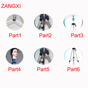 Image 2 - Aluminium alloy Training Head Tripod Good Quality Dummy Clamp Dolls Head Stand Wig Head Mannequin Head Holder