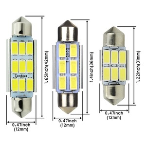 Image 3 - Safego 4x LED Festoon 31mm C5W 36mm LED canbus 6SMD 42mm LED 9 SMD 5630 Car Interior Dome Lamp License Plate Light Reading Bulbs
