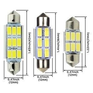 Image 3 - Safego 4x led festoon 31mm c5w 36mm led canbus 6smd 42mm led 9 smd 5630 자동차 인테리어 돔 램프 번호판 라이트 독서 전구