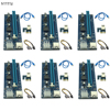 6pcs 006C USB3 0 PCI E Express 1X 4x 8x 16x Extender Riser Card Adapter SATA